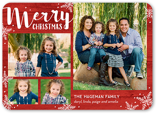 Flurry Overlay Christmas Card, Rounded Corners