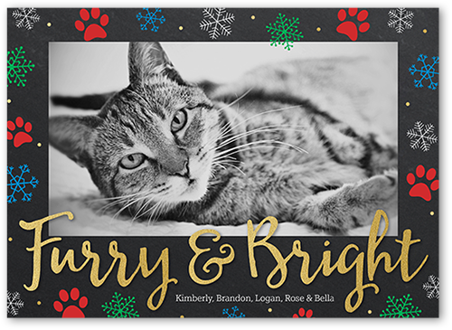 Flurry And Bright Christmas Card, Square