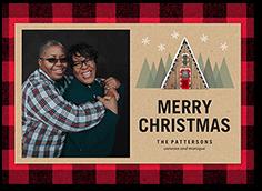 lumber plaid border christmas card
