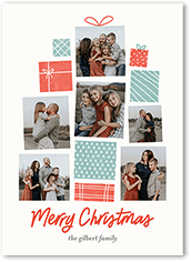 giftwrapped cheer christmas card