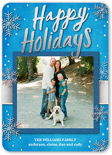 Frosted Script Holiday Card
