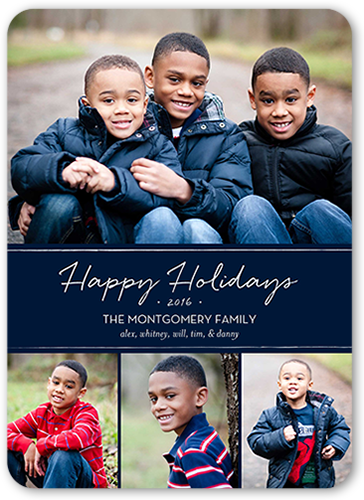 Basic Banner Holiday Card