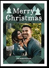 winter plaid holiday card