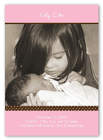 pacific portrait pink birth announcement 5x7 photo