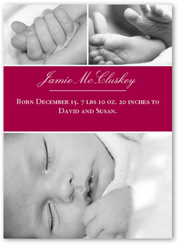 Big Blocks Magenta Birth Announcement