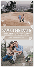 charming beginning save the date 4x8 photo