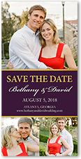 our wedding save the date 4x8 photo