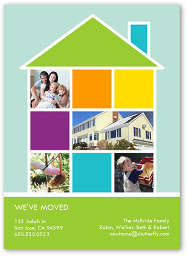 Modern Home Collage Moving Card