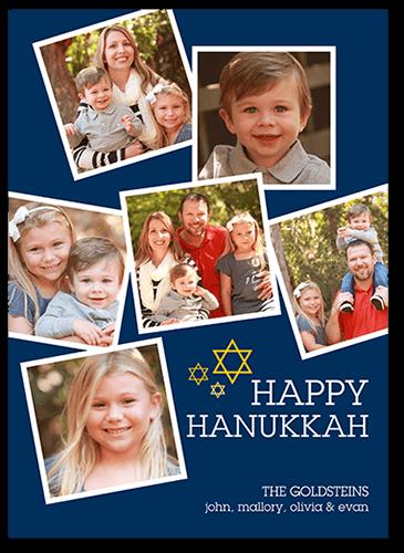 Happy Little Frames Hanukkah Card, Square