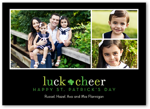 Simply Lucky St. Patrick's Day Card, Square Corners