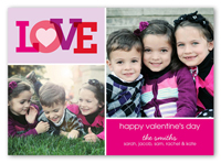 we love you valentines card 5x7 photo