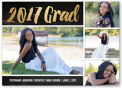 Gold Brushed Grad Graduation Card