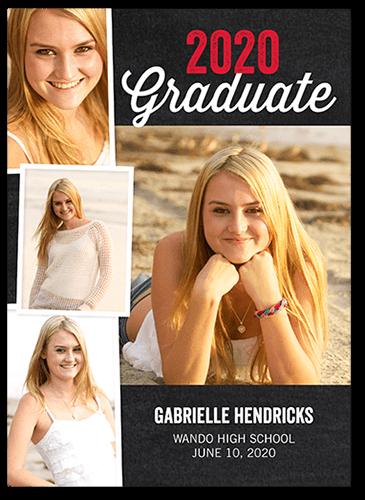 Vintage Grad 5x7 Photo Graduation Announcements
