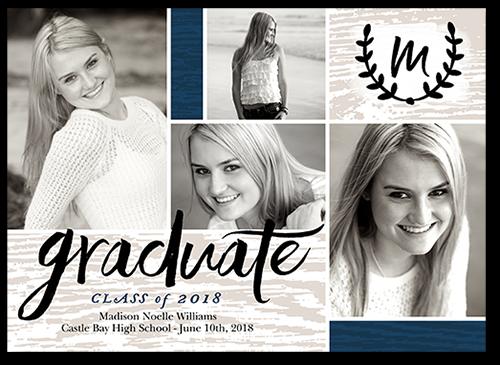 Graduate Monogram Graduation Card
