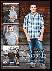 photo grad graduation card