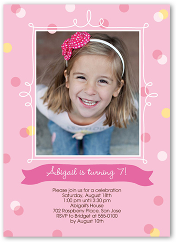 Confetti Splash Frame Birthday Invitation