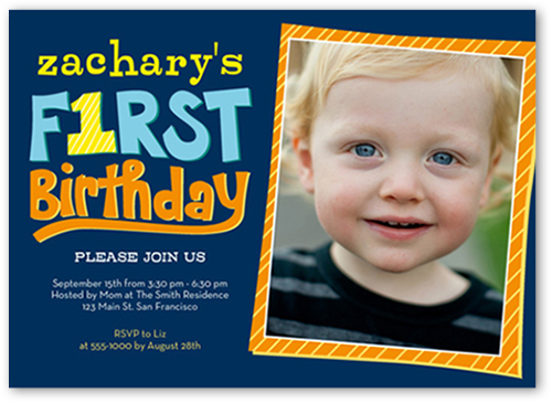 Swell Year Of Firsts Boy First Birthday Invitation Shutterfly Funny Birthday Cards Online Alyptdamsfinfo