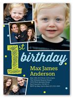 its my first boy birthday invitation 5x7 photo