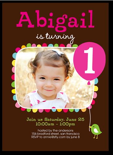 Bright Bash Girl Birthday Invitation