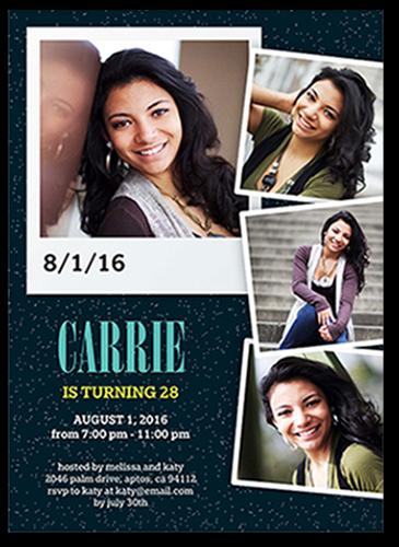 Charming Snapshots Birthday Invitation, Square