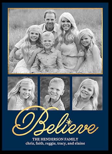 Faithful Glow Religious Christmas Card