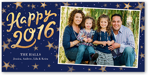 New Year Stars New Year's Card