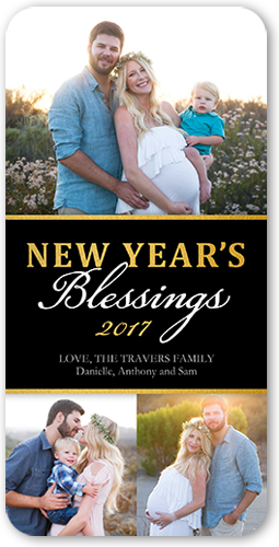 Blessed Banner New Year's Card