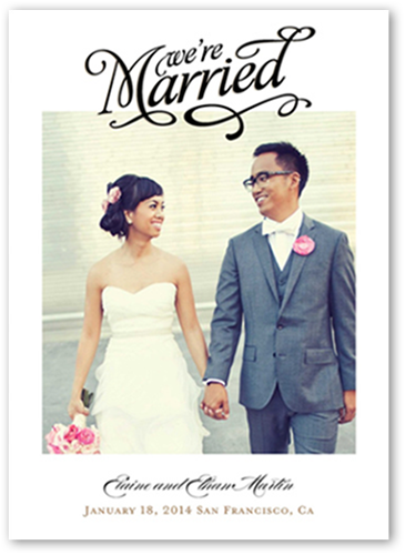 Our Big News Wedding Announcement, Square Corners