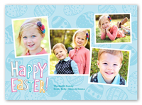 perfect patterned eggs easter card 5x7 photo