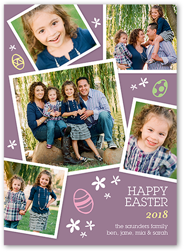 Frames And Eggs Easter Card, Square