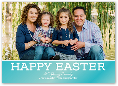 Happiest Wishes Easter Card, Square Corners