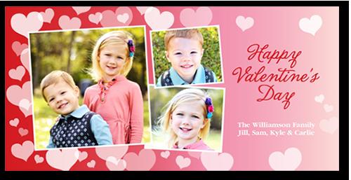 Heart Confetti Valentine's Card, Square Corners
