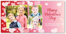 heart confetti valentines card 4x8 photo
