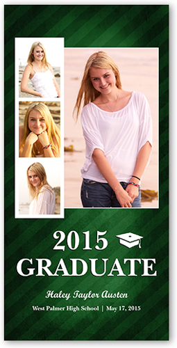 Luminous Stripes Graduation Card