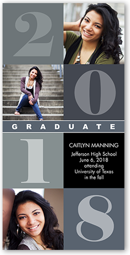 Classic Block Collage Graduation Card