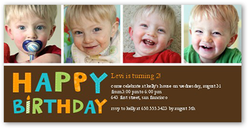 Having Fun Boy Birthday Invitation