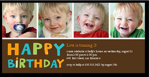 Having Fun Boy Birthday Invitation
