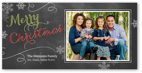 Chalked With Love Christmas Card