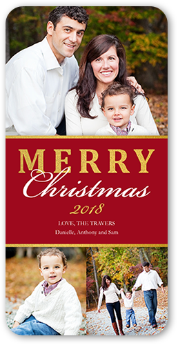 Shiny Banner Christmas Card, Rounded Corners