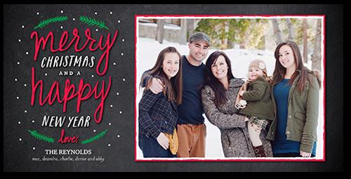 Framed Flurries Christmas Card