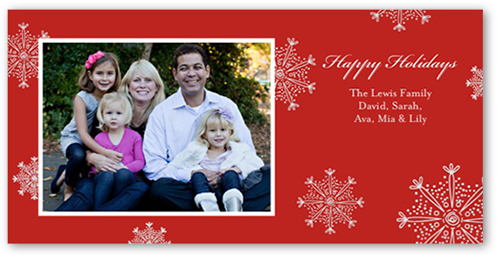 Family Snowfall Holiday Card