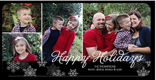 Snowy Splendor Holiday Card, Rounded Corners