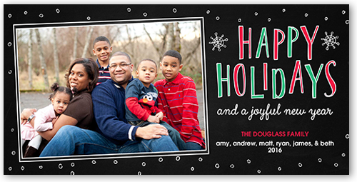 Festive Flurries Holiday Card
