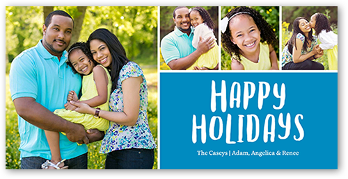 Modern Happy Border Holiday Card