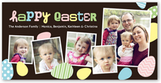 elegant eggs easter card 4x8 photo