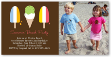 popsicle party summer photo card 4x8 photo