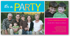 party time summer invitation 4x8 photo