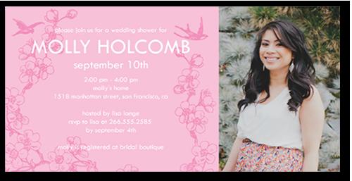 Cherry Blossom Birds Bridal Shower Invitation