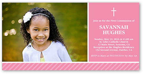 Classic Communion Girl Communion Invitation, Square Corners