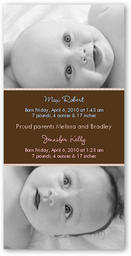 Swiss Dots Chocolate Birth Announcement